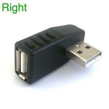 USB A macho a hembra Cable de extensión 90 grados de ángulo Recto Adaptador De Enchufe De Esquina