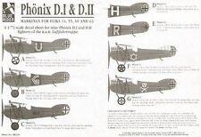 Blue Rider 1/72 Phonix D.I & D. II marcas para 9 combatientes de Fliks 14, 55, 60