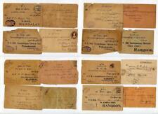 Burma Covers, Cards etc for Postmarks. Mandalay, Rangoon etc. Mixed condition.