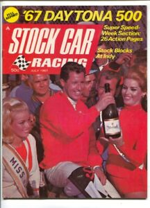 Stock Car Racing 7/1967-8th issue-Mario Andretti cover & story-Daytona  500-N...