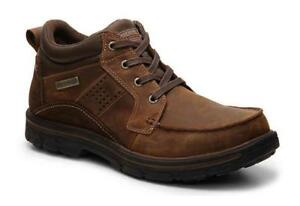 SKECHERS Men's Leather Ankle Boots, Med and Extra Wide, Waterproof   Reg $140.00