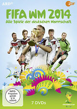 7 DVDs * FIFA WM 2014 - ALLE SPIELE DER DEUTSCHEN MANNSCHAFT # NEU OVP ^