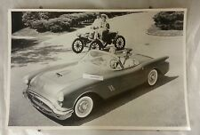 """12 By 18"""" Black & White Picture 1954 Oldsmobile 88 Convertible & Runabout"""