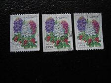 SUEDE - timbre yvert et tellier n° 2068 x3 obl (A29) stamp sweden