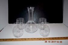 Wine Tumbler Glasses & Decanter Reidel Lot 4 Penguins Logo Made Germany
