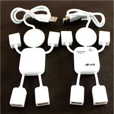 Cool Cute 4 Port Hub High-Speed USB 2.0 Humanoid Splitter Cable Adapter for Lapt