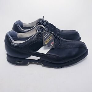 Etonic Difference 3Z Golf Shoes Gore-Tex GTX Mens Size 9.5 Black White Leather