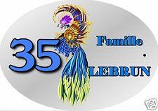 PLAQUE NUMERO DE MAISON ou BOITE AUX LETTRES EXTERIEUR réf 27 choix inscription
