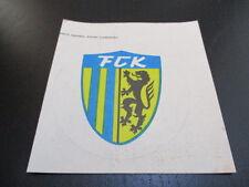 090616 original DDR Oberliga Aufkleber FC Karl Marx Stadt aus DDR Zeiten