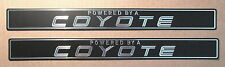 "2015,2016,2017  FORD MUSTANG GT ""POWERED by a COYOTE"" ALUMINUM DOOR SILL EMBLEMS"