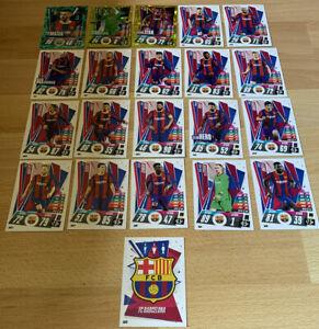 Match Attax 20/21 Barcelona Full Team