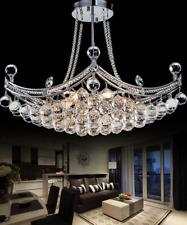 Modern K9 Crystal Chandelier LED Flush Mount Ceiling Lighting Hanging Lamp