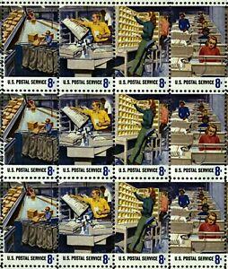 US Scott 1489-98 Postal Service Employee Mint NH  Sheet of 50