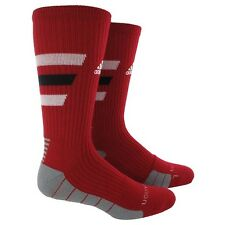 ADIDAS Team Speed Traxion Crew 1Pair Socks Red w/ White Black Stripes Size Small