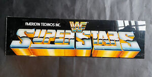 Original WWF Superstars Arcade Game Marquee