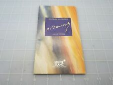 Montblanc Limited Edition Dumas  Booklet