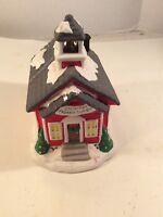 Figis Christmas School House House Ceramic 1996 Candy Dish
