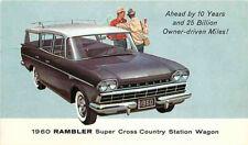 Postcard 1960 Rambler Super Cross Country Station Wagon