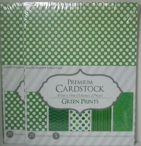 """Core'Dinations Cardstock Paper 8 1/2"""" X 11"""" 25 sheets PRINTS 2 packs in lot set"""