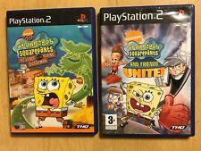 2x PAL PLAYSTATION 2 PS2 GAMES SPONGEBOB SQUAREPANTS & FRIENDS UNITE! + DUTCHMAN