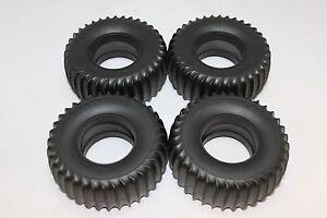 Tires set with foam inserts for Tamiya Blazing Blazer 58029 Wild Willy I 58035