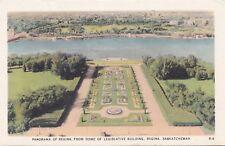 View from Parliament Building REGINA Saskatchewan Canada 1930-40 Valentine-Black