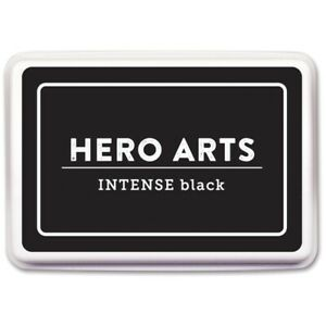 Hero Arts Intense Black Dye Inkpad Alcohol Marker Friendly Ink AcidFree Archival