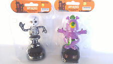 Set of 2 Happy Dancing Solar Power Dancing Skeleton and Dancing Monster NEW!!