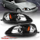 1999-2000 Replacement Black Headlights for Honda Civic 2/3/4 Door  EK/EJ/EM/JDM