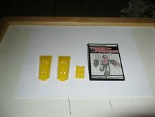 Transformers G1 Omega Supreme Lot Three Yellow Clips & Clean Instruction Booklet