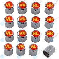 4 Sets YOU.S Alu Ventilkappen Rot mit Dichtung Reifenmarkierung für Auto PKW NEU
