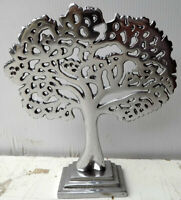 Albero della vita in alluminio cm 16x4x19h decoro idea regalo