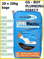 Bond It LEVELMASTER SELF LEVEL FLOOR LEVELLING COMPOUND 20KG GREY x 20 bags