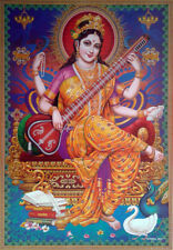 "Hindu Goddess * Devi Saraswati Saraswathi Maa - POSTER (Large Size: 20""x28"")"