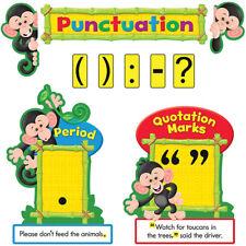Monkey Mischief Punctuation Bulletin Board Set Trend Enterprises Inc. T-8282