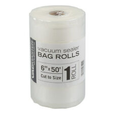 """Clearance Sale!! Vacmaster 6"""" X 50' Roll Foodsaver Compatible Vacuum Sealer Bags"""