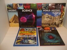 7 Educational Books Ancient History,World History,Science,Space,Amazing Animals