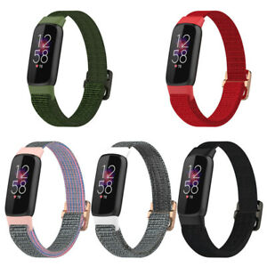 Woven Nylon Elasticity Replacement Watch Fabric Wristband Strap For Fitbit Luxe