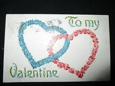 VINTAGE VALENTINES DAY CARD POSTCARD POSTED 1911 ADRIAN MICHIGAN NICE  !!