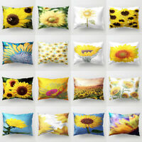 12x20'' Pillow Case Sunflower Sofa Bed Cushion Cover Home Bedroom Decor Surprise