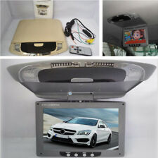 """9"""" Car LCD Color Monitor Flip Down Screen Overhead Multimedia Video Player Grey"""