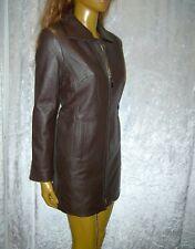 Jilani-Uomo in Pelle Cappotto Giacca di pelle longjacke Lammnappa marrone scuro