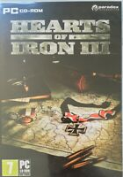 Hearts of Iron III 3 PC DVD Win XP Vista 7 8 10 Strategy Very Rare Free Postage