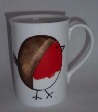 BN Boxed Christmas Robin Fine Bone China Mug, Stocking Filler, Robin Mug