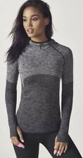 NWT Fabletics Avaline Hoodie Seamless Gray Black xs 2-4