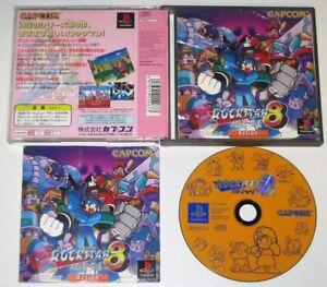 PS1 Game ROCKMAN 8 - METAL HEROES NTSC-J Japan PlayStation Megaman Mega Rock Man
