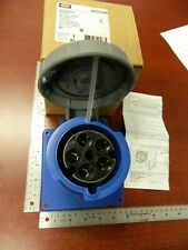 HUBBELL HBL560R9W Pin & Sleeve, Watertight, 4 Pole, 60A 3 Phase Y 120/208 VAC