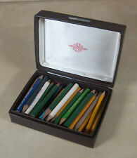 50 Vintage Golf Pencil Collection in Acushent box FL Hotel Southern