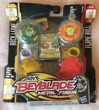 BEYBLADE METAL FUSION LION GALE 2 PACK ROCK LEONE FLAME BULL SEE DESCRIPTION!