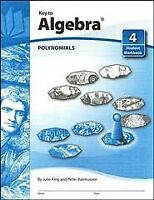 Key to Algebra Book 4 Polynomials, Paperback by Rasmussen, Brand New, Free sh...